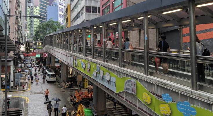 Уличный эскалатор Гонконга