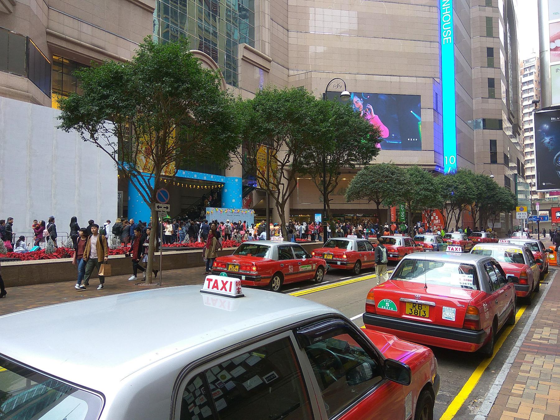 Красные – городские Такси в Гонконге